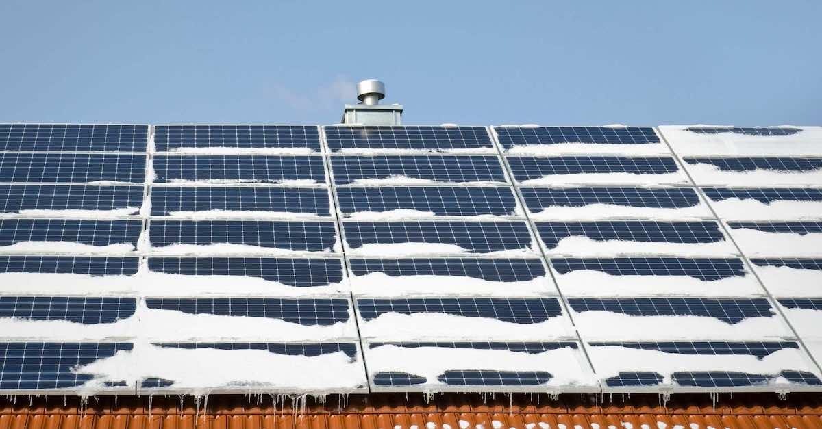 solceller om vinteren